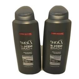 2 Pack Dove Men +Care Fortifying Shampoo Elements Charcoal 2