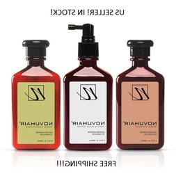 3 IN 1 NOVUHAIR HAIR LOTION + SHAMPOO + CONDITIONER US SELLE