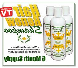 6 month RENEW SHAMPOO reverses womens thin hair loss dyed dy