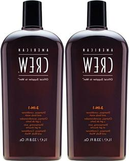 American Crew Classic 3-in-1 Shampoo Plus Conditioner, 33.8