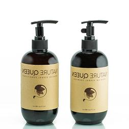 NATURE QUEEN Herbal Shampoo + Conditioner Set | Natural hair