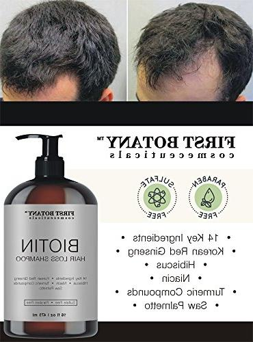 Hair Hair Shampoo - 16 fl oz, with 14 DHT blockers- Hair and Daily Hydrating, Volumizing Shampoo For Men and Women