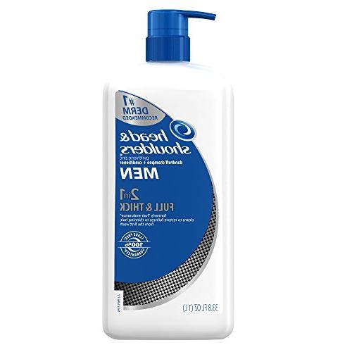 Head and Shoulders Men Full and Thick 2-In-1 Dandruff Shampo