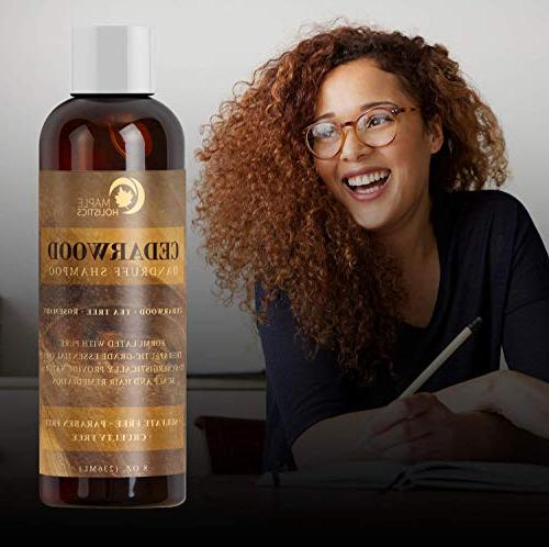 Anti-Dandruff Thickening Shampoo Cedarwood Essential Oil - Stop Promote Hair Psoriasis - Make + Increase Healthy Scalp