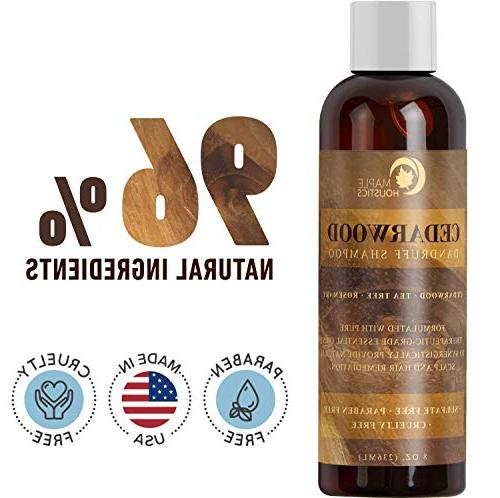 Anti-Dandruff Thickening Shampoo Cedarwood Essential Oil - Stop Promote Hair Psoriasis Flakes - Make Hair + Increase Healthy