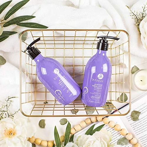 Biotin Collagen Shampoo Conditioner Set,Thicking Hair & Fast Hair Growth, Sulfate Paraben Free, & Color