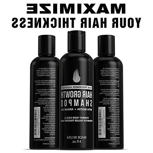 Biotin For by Hair for Maximum Growth. Best Hair Loss For Men and With Argan Vitamin