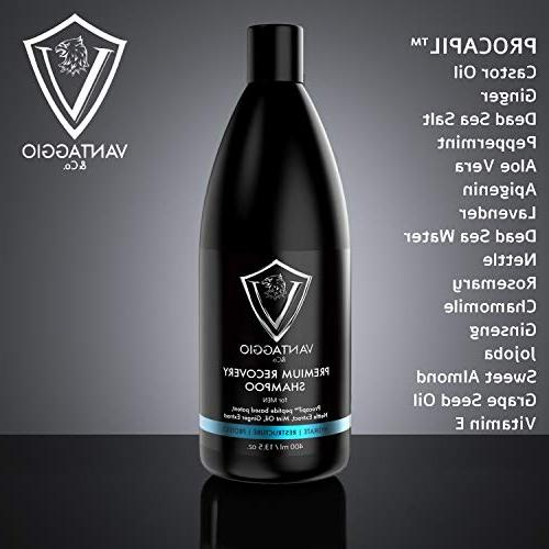 Hair Loss Men Boosts Growth and DHT Fights and Premium Oil Peppermint and Dead Sea Salt 13.5 oz