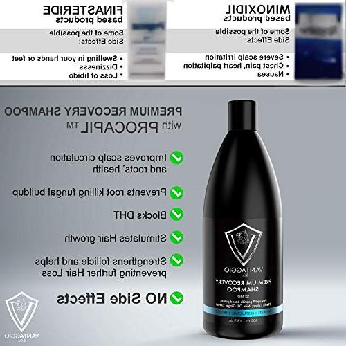 Hair Men Boosts Hair Growth and DHT Blocker Thinning and Alopecia PROCAPIL Premium with Castor Oil Peppermint Dead Sea