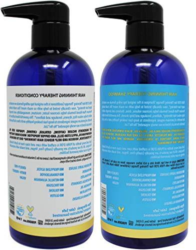 PURA Therapy for Shampoo Conditioner Set Infused with Biotin for Hair Types, Men