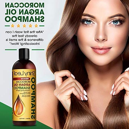 Moroccan Argan Oil Shampoo – Sulfate for Hair Strengthens All Leaves 16