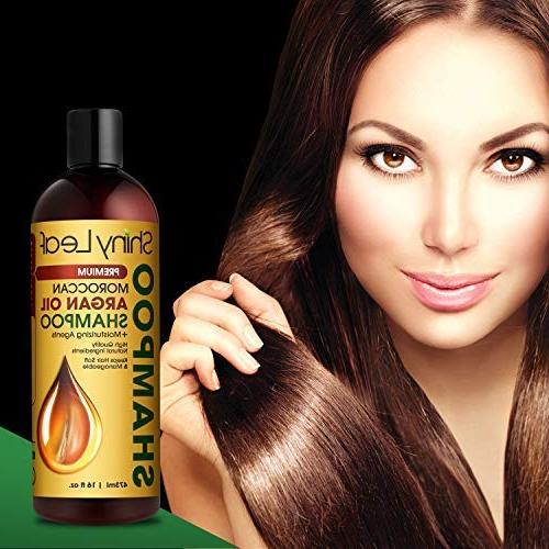 Moroccan Argan – Sulfate Hair Treatment, Strengthens All Leaves Hair 16 oz