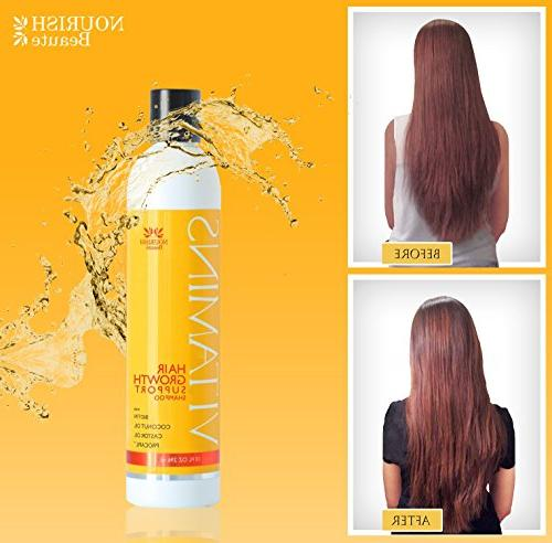 Nourish Vitamins Growth Shampoo - For and Thickening, For Volumizing Month Supply