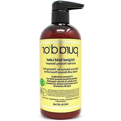 Pura d'or Premium Organic Anti-Hair Loss Shampoo , 16 Fluid