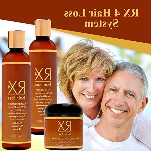 RX 4 Shampoo Thinning DHT Blocker, with Aids Hair Regrowth, Doctor Growth Shampoo Treatment System. Conditioner sold