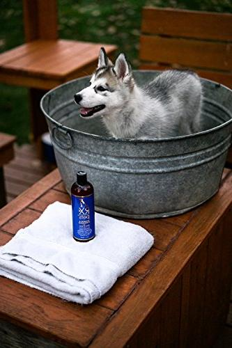 RX4 Dog Conditioner - Naturally Oatmeal Puppy Relief for Smelly Bites, Dry Skin, Mange, More Scratching,16oz