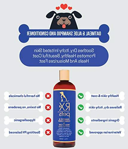 RX4 Conditioner Organic Puppy for Smelly Pets, Bites, Dry