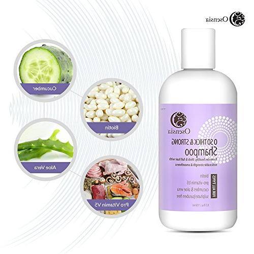 Strengthening Biotin Shampoo for Thicker – and Paraben Free Vera, Safe, Hair Shampoo Breakage, Boosts