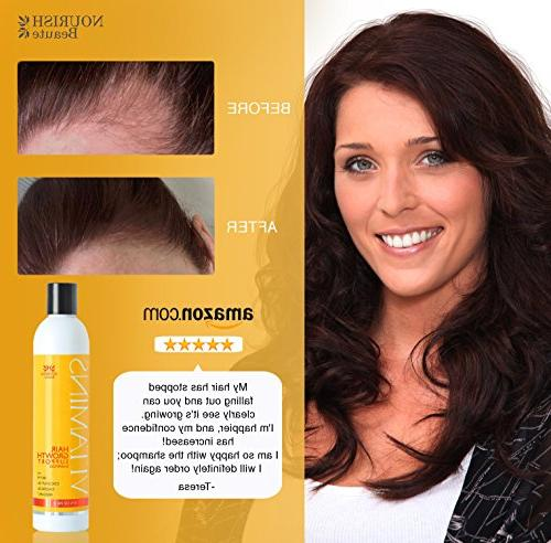 Nourish Vitamins Hair Growth - DHT Blockers For Hair Regrowth and Thickening, Growth For Volumizing - Month