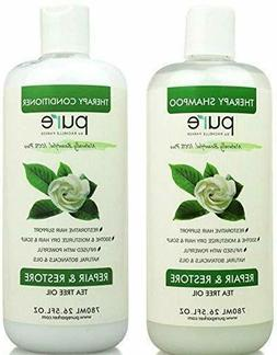 Tea Tree Oil Shampoo + Conditioner Set Hair Loss Regrowth Re